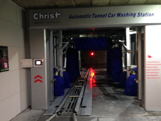 Conveyor tunnel car wash installed in bishkek kyrgyzstan custom logo