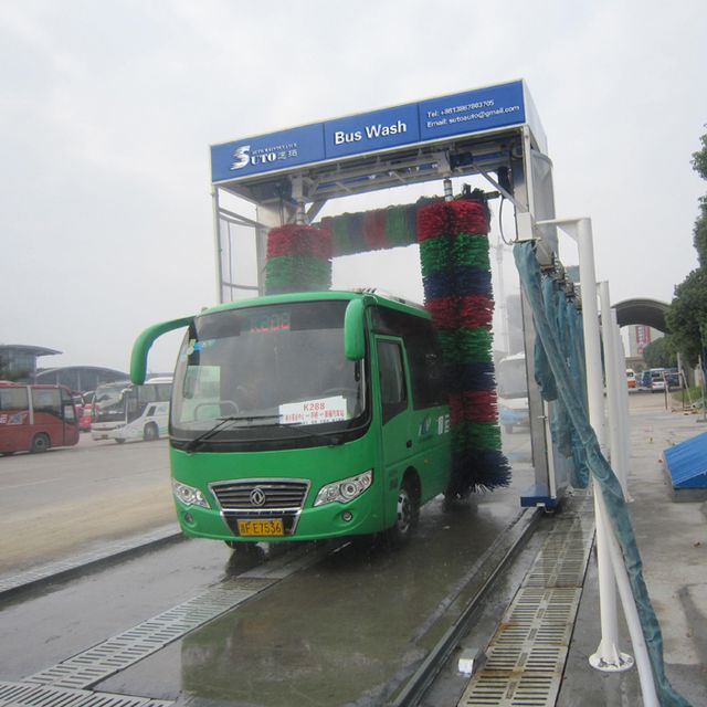 Roll-Over Bus Wash System