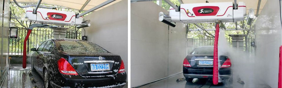 Automatic touchless car washing touch free